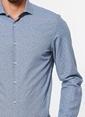Ramsey Desenli Uzun Kollu Gömlek İndigo